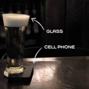 It appears that the glass is actually half-cut